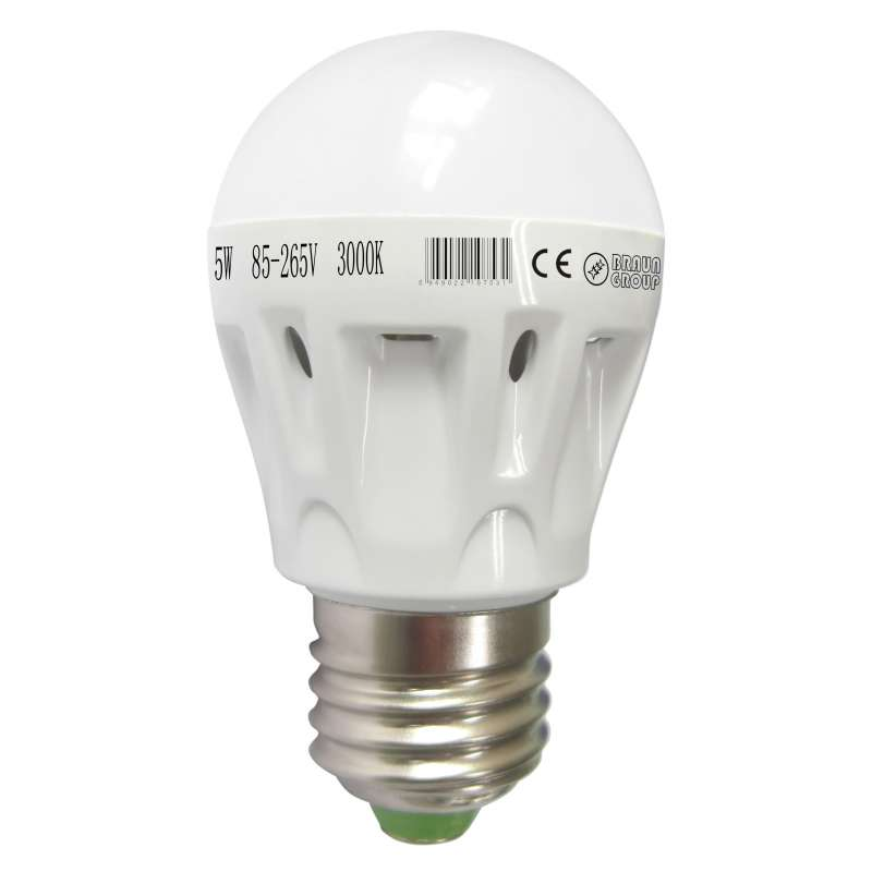 led bulb light 3w e27 braun group bz3 qp ln led glob 3 watt ww. Black Bedroom Furniture Sets. Home Design Ideas