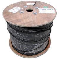Cablu optic FTTH de exterior 4 fibre G652D cu sufa metalica