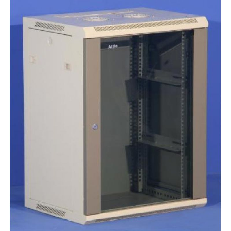 Wall Mount IT Server Data Network Cabinet Rack Glass Door Locking