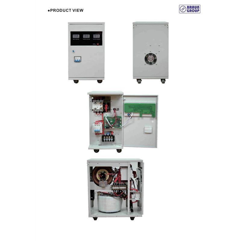 20kva Voltage Stabilizer With Servomotor Braun Group Es