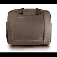 "Oxford NotebookCarry Bag 15,6"" brown with orange insert"