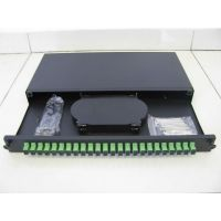 """Optical Patch panel  ODF for 19"""" rack, 1U, with drawer, equiped with  24 adapters"""