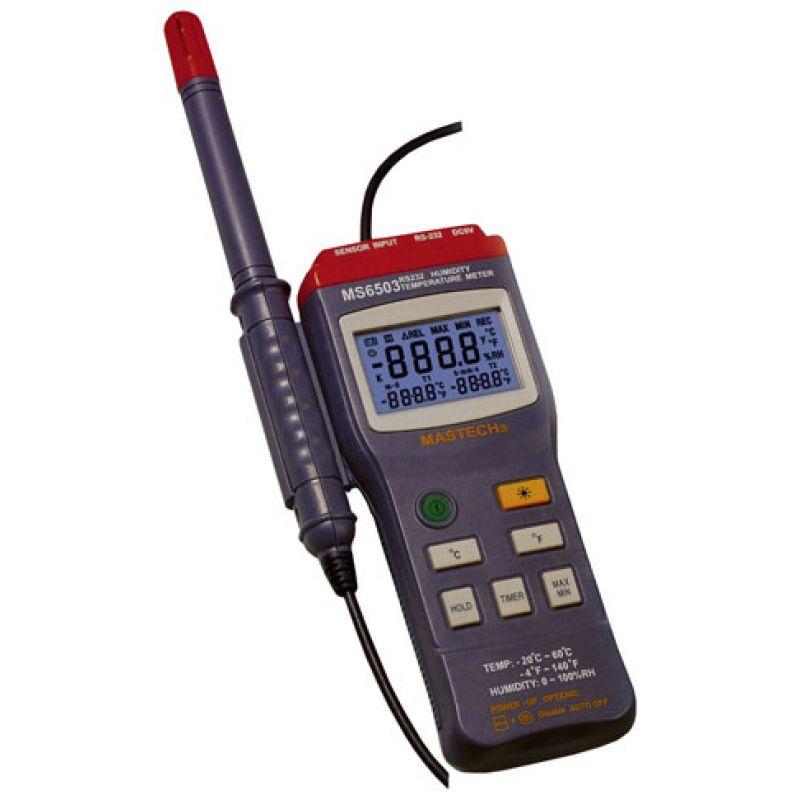 Temperature Humidity Meter : Digital temperature humidity meter mastech ms